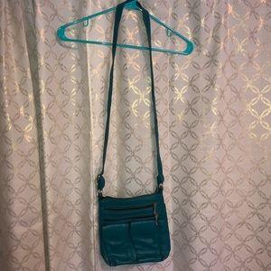 Teal crossbody purse
